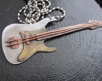 Guitar Gift Guitar Player Gift Guitar Necklace Music Jewelry Music Gift Guitar  Guitar Jewelry  Pendant Guitar  Music Guitar  Music Necklace