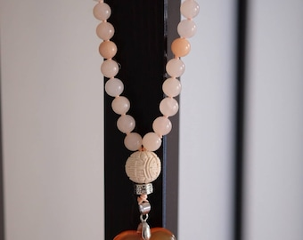 The kindness mala with Chalcedony and Agate