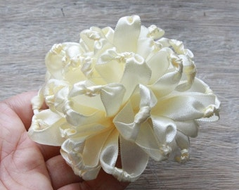 Fabric Flower Tutorial, Hair Bow Tutorial, Ribbon Flower Tutorial, PDF Pattern & Tutorial, Fabric Flower Pattern, Knotted Chrysanthemum