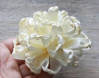 Fabric Flower Tutorial, Hair Bow Tutorial, Ribbon Flower Tutorial, PDF Pattern & Tutorial, Fabric Flower Pattern, Knotted Chrysanthemum