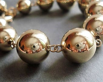 Gold Bracelet Bridesmaid Gift Statement Bracelet Bead Jewelry Everyday Bracelet Gold Jewelry Ball Bracelet Bohemian Jewelry Gift For Women
