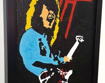 Van Halen  RETRO  - Framed Wall Art Giclee Canvas Mixed Media Paint, Painting, Poster, Print, Artwork,Gift