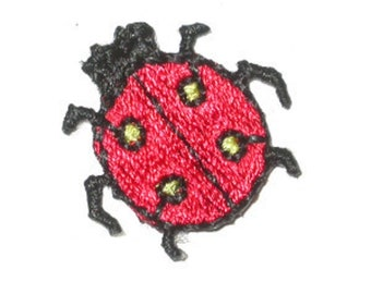 Small Red Ladybirds Iron On Appliques x 5