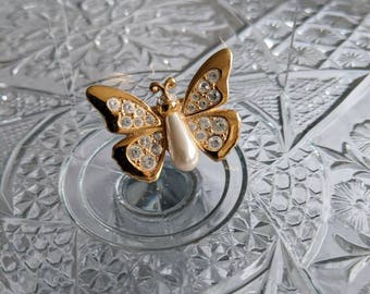 Swarovski Crystal Butterfly Pin