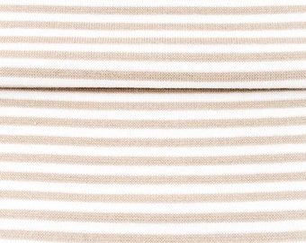 Cuffs - size 80cm - sand/white striped