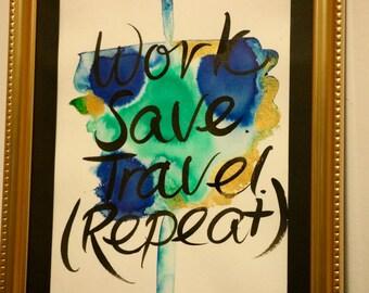 Travel quote print