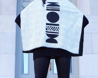 Cropped Moon Poncho