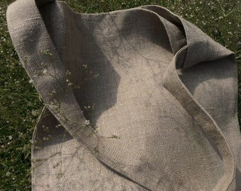One Handle Linen Tote Bag. Linen summer bag. Very light and comfortable.
