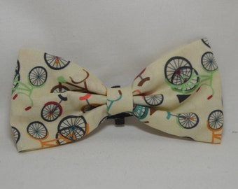 Bicycle Dog Bow Tie, Over the Collar Dog Bow Tie, Bike Bow, Gifts for Dog Mom, Gifts for Her