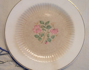 Antique Flower Plate Small National Brotherhood of Operative Potters Royal China