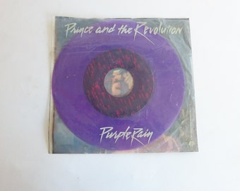 "Prince and the Revolution 7""/ 45 Purple Rain Purple Vinyl w Picture Sleeve 1984"