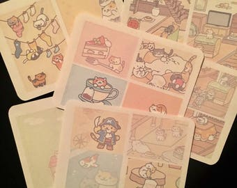 Neko Atsume stickers planner