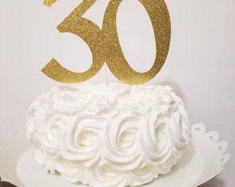 Age 30 cake glitter topper-30 cake topper-30th birthday topper-30th theme birthday topper-age cake topper-glitter age cake topper-30th party
