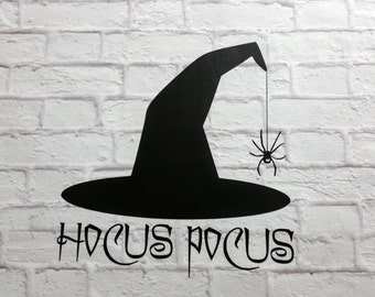 Halloween Vinyl Wall Decal Hocus Pocus Witch Hat