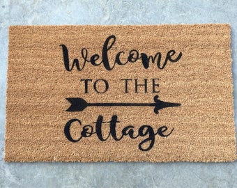 Customized Welcome Mat | Personalized Door Mat | Custom Welcome Mat | Closing Gift | Custom Doormat | Doormat