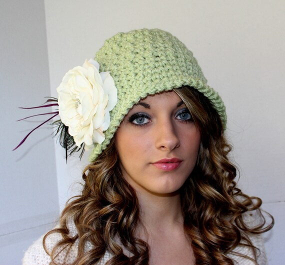 Crochet Hat Pattern Womens Cloche Crochet Pattern Flapper Hat