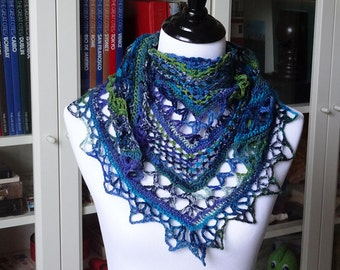 River Run, a Hand-crocheted, Handmade Accessory (Wrap / Scarf / Shawl)