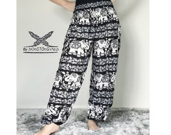 PLUS SIZE XXL Harem pants women/Yoga pants/Hippie pants/Meditation Harem Pants/Boho pants/Gypsy pants/Thai Elephant pants/Festival pants