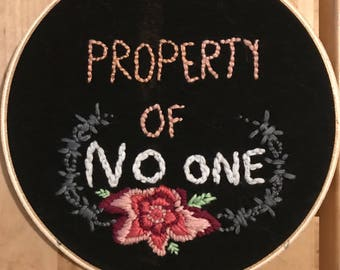 Property of no one embroidery
