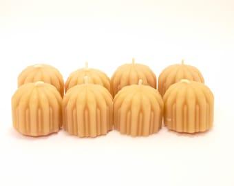 Beeswax Tea lights - Flower set of 12 Tea light Beeswax Candles