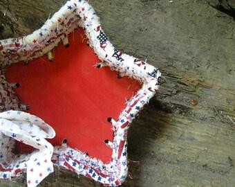 VALOR STAR  shaped textile art BASKET