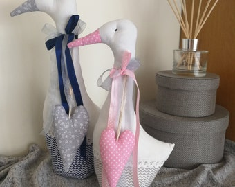Colorful fibre art geese/goose