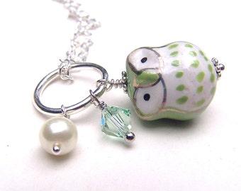Swarovski Girls Owl Necklace Kids Owl Jewelry