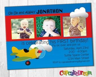 Airplane Birthday Invitations, Boy Birthday