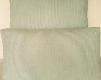Throw Pillow Cover Lumbar Square Brushed Velvet Chenille Sea foam Pastel Green Aqua
