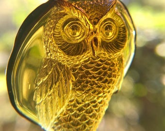 Amber Owl Carving