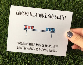 Funny Graduation Card College Graduation Card Funny Congratulations Card for Graduate Congrats Grad Card Funny Grad Card College Grad Card