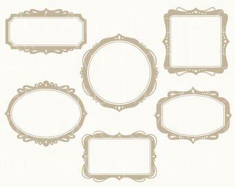 Frame Clipart Clip Art Vintage Digital Frame Clipart Wedding Frame Clipart Label Clipart Digital Frame Graphics Instant Download