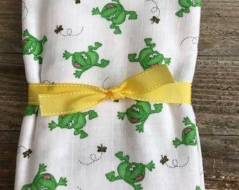 Large Frog Swaddle Blanket