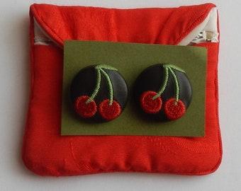 Kitschy Vintage Cherry Earrings!