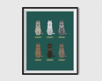Game of Thrones Dire Wolf Poster