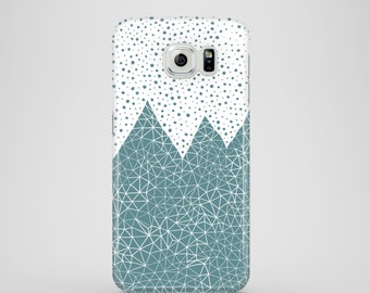 Teal Mountains mobile phone case / Samsung Galaxy S7, Samsung Galaxy S6, Samsung Galaxy S6 Edge, Samsung Galaxy S5 / mountain phone case
