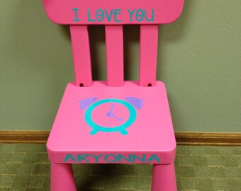 Personalized Pink Time Out Chair With Working Timer