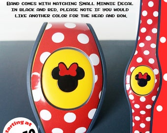 Minnie Dots Magic Band Decal Skin for 2.0 Magic Band