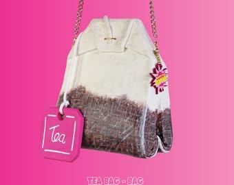 Tea bag bag cup of tea bag tea purse tea time english tea accessories bags purses realistic rommydebommy food fun cute xxl food art artist