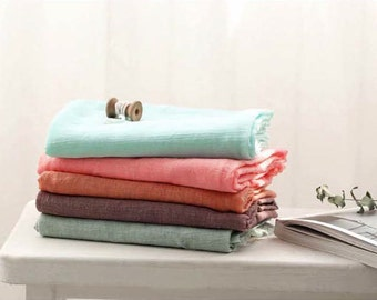 """Solid Cotton Gauze - Mint, Candy Pink, Orange, Brown Purple or Khaki Sky - 55"""" Wide - By the Yard 88488"""