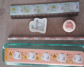 Set of 5 stationery pieces pets