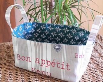 Rectangular basket with 2 handles