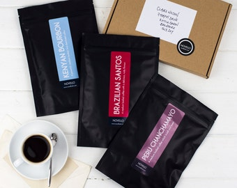 Monthly Coffee Subscription x 3 months - Single Origin Coffee every month - Coffee Lovers Gift