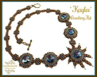"""Only Beads Kit : """"Kaylee"""" Necklace in English D.I.Y."""