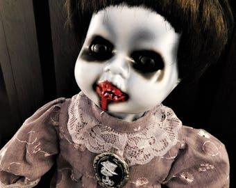 "Chiwa 12"" OOAK Porcelain Horror Doll"