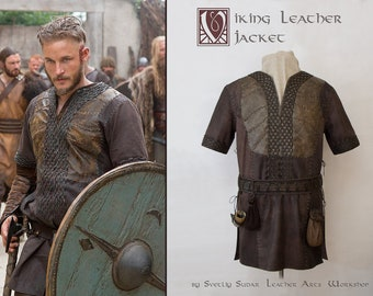 Ragnar Lothbrok Leather Jacket (replica) / custom size / viking costume / LARP equipment / medieval / made to order / screen accurate