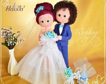 Crochet Pattern - Bride and Groom (Amigurumi Doll Pattern)