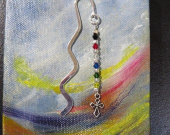 Teacher gift basket etsy salvation bookmark religious gift sunday school teacher gift easter basket wavy silvertone bookmark with crystals with negle Image collections