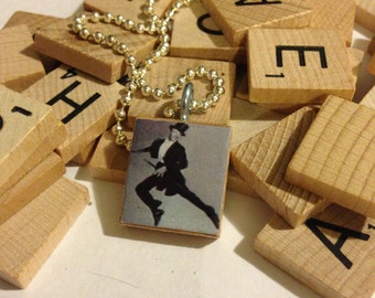 Fred Astaire Scrabble Tile Pendant With Ball Chain Necklace