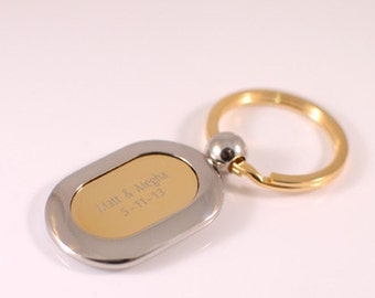 Engraved keychain - Personalized keychain - corporate favors
